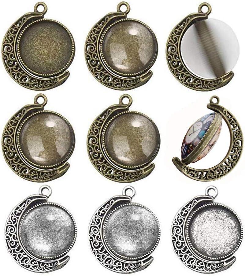 5pcs 18mm moonstone glass heart pendant jewellery making craft UK