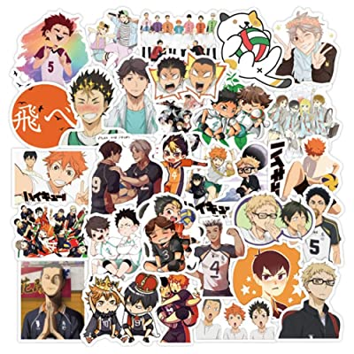 Salemor Anime Stickers Cartoon Waterproof Laptop Stickers Waterproof Skateboard Snowboard Car Bicycle Luggage Decal Gift for Kids(Haikyuu!!-50Pcs): Arts, Crafts & Sewing