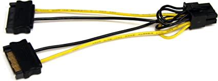 20-Pack 20x PCI-E 8-pin to 2x 6+2-pin Power Splitter Cable PCIE PCI Express