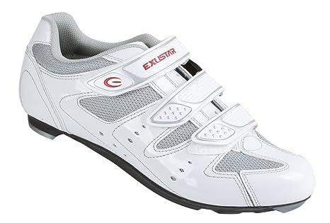 Exustar 71032 - Zapatillas para bicicleta de carreras blanco blanco Talla:39