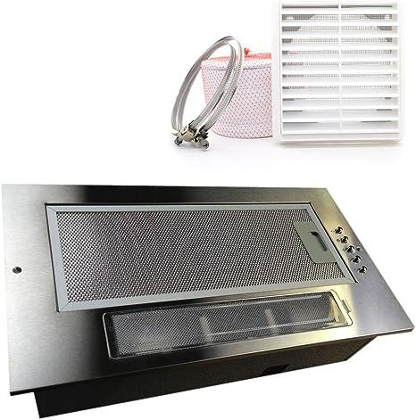 Universal 525 mm 52 cm de la cocina del pabellón para campana extractora de ventilador Extractor integrado de bajo doble Motor con 120 mm kit de canalización: Amazon.es: Hogar