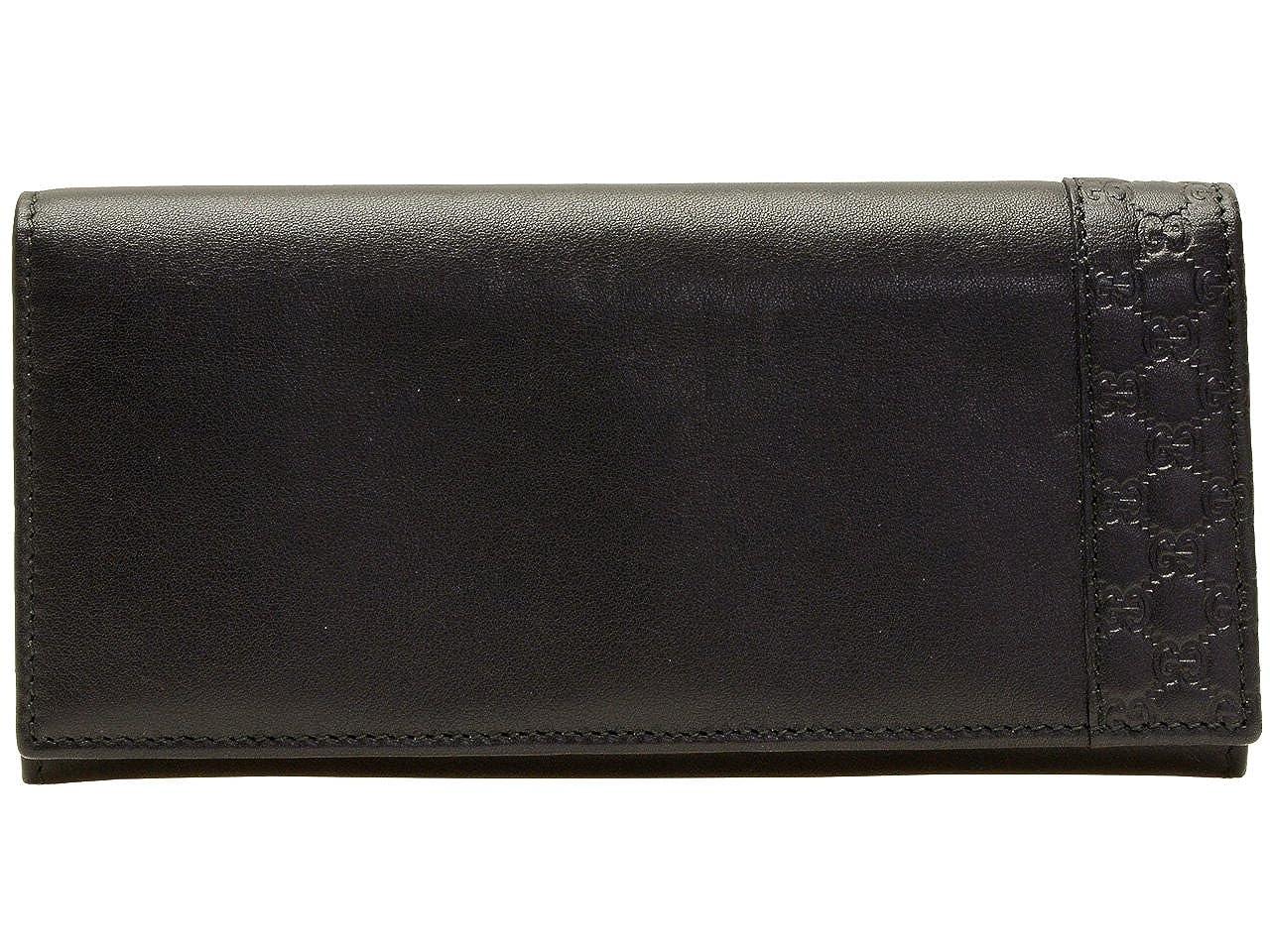 (グッチ) GUCCI 財布 長財布 二つ折り メンズ ブラック レザー マイクログッチシマレザー 256434a8wqn1000 アウトレット ブランド [並行輸入品] B01MDVNVT4