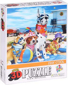 Super 3D Rompecabezas de 50 Piezas, Mantenerse Fresco (9 x 6 Pulgadas): Amazon.es: Juguetes y juegos