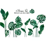 RW-1001 Removeable 3D Green Plants Wall Stickers DIY Fresh Leaf Home Wall Decoration Art Decor Wall Decal Peel and Stick…