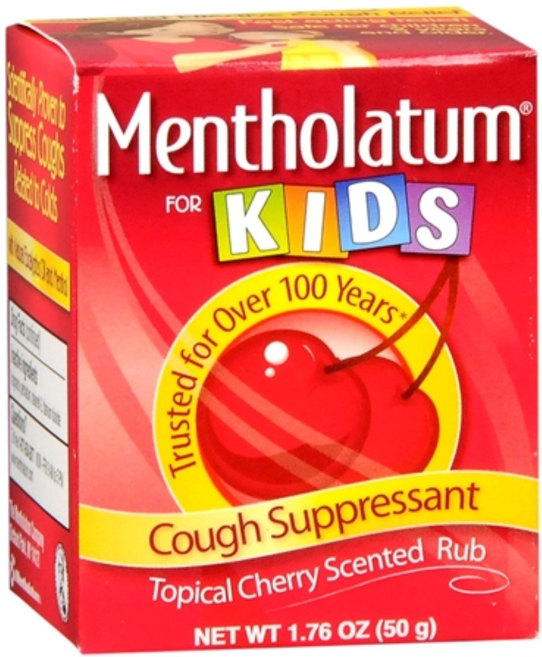 Mentholatum Kids Chst Rub Size 1.76z Mentholatum Kids Cherry Chest Rub 1.76z by Mentholatum