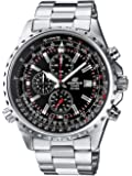 Casio Edifice Men's Watch with Black Analogue Display and Stainless Steel Bracelet EF-527D-1AVEF