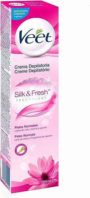 Veet Silk & Fresh, Crema Depilatoria para Pieles Normales con ...