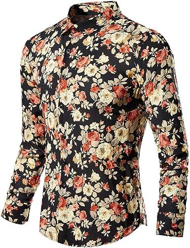 SXZG Camisa de Hombre Nueva Patrón Juvenil Camisa de Manga Larga Camisa Casual de Hombre: Amazon.es: Ropa y accesorios