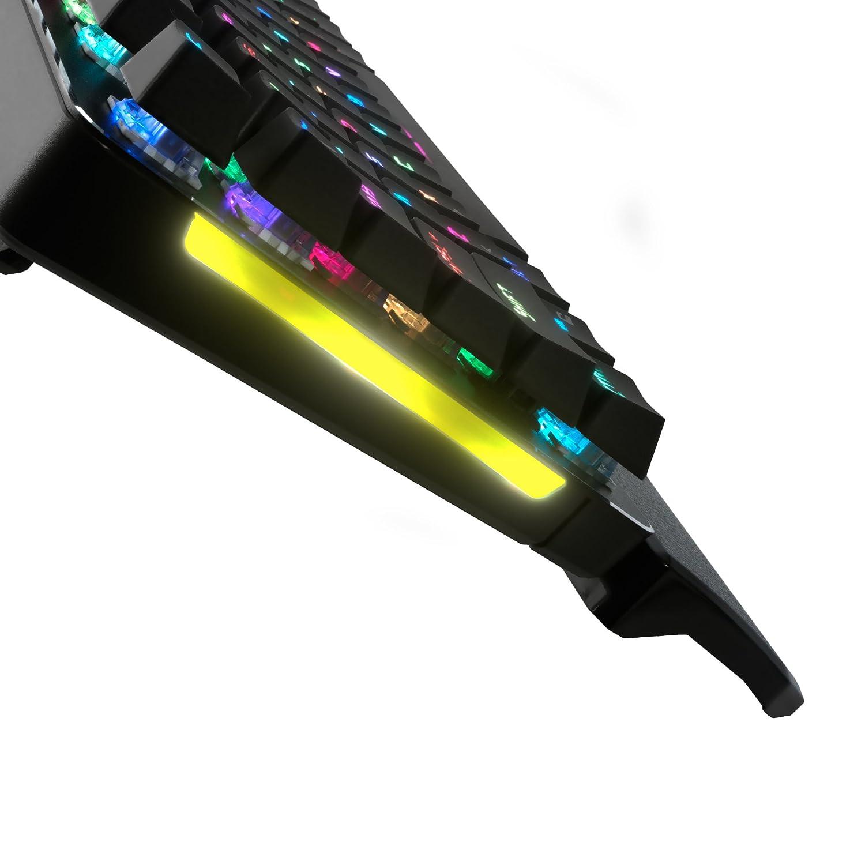 19 efectos switch AZUL AIM Teclado mec/ánico gaming RGB software