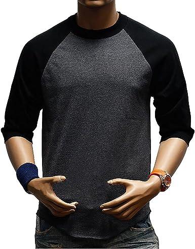 SBOYS Camiseta de béisbol para Hombre, Estilo Informal, Ajuste Regular Raglan, Manga 3/4, Camisetas Henley Baseball T Shirt 1 3XL: Amazon.es: Ropa y accesorios