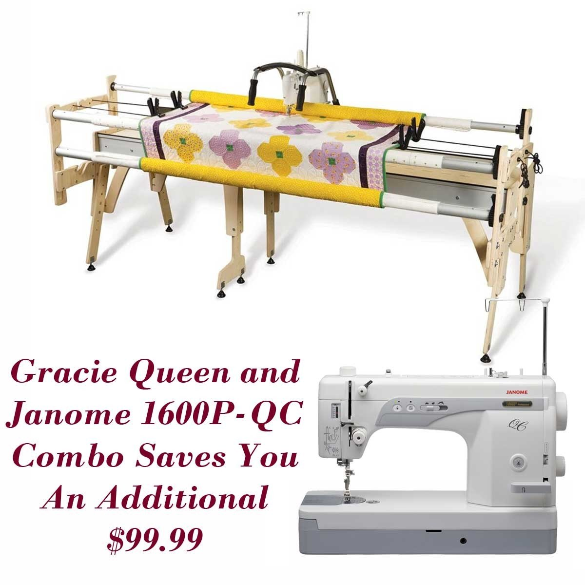 Amazon.com: Janome 1600P-QC Sewing Machine w/ Grace Queen Quilting Frame