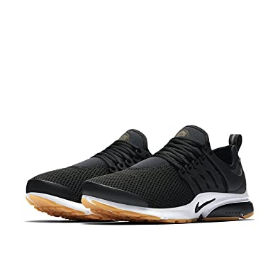 f83f4e5c1d76 Nike Womens Air Presto Black White Gum Yellow Black Running Shoe Sz