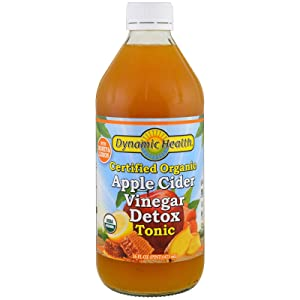 Dynamic Health Certified Organic Apple Cider Vinegar Detox Tonic, 16 Ounce