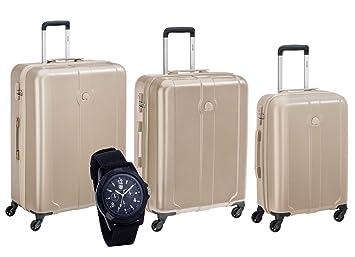 Delsey Juego de maletas azul azul claro 55, 66 e 77 cm.