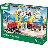 BRIO World - Rail & Road Crane Set