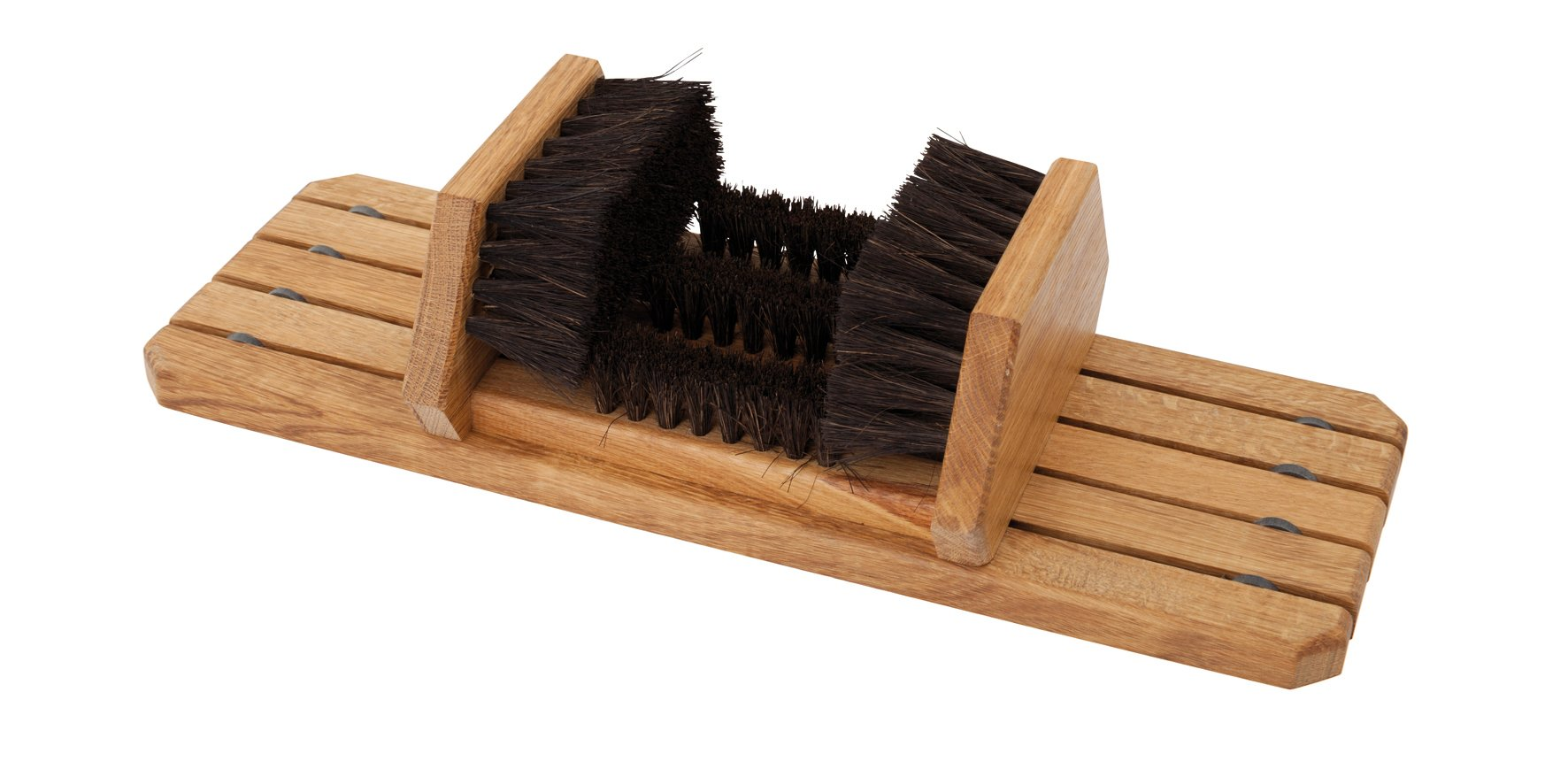 Redecker Arenga Fiber and Oiled Oakwood Boot and Shoe Brush Scraper, 20-1/2 x 7-1/4-Inches
