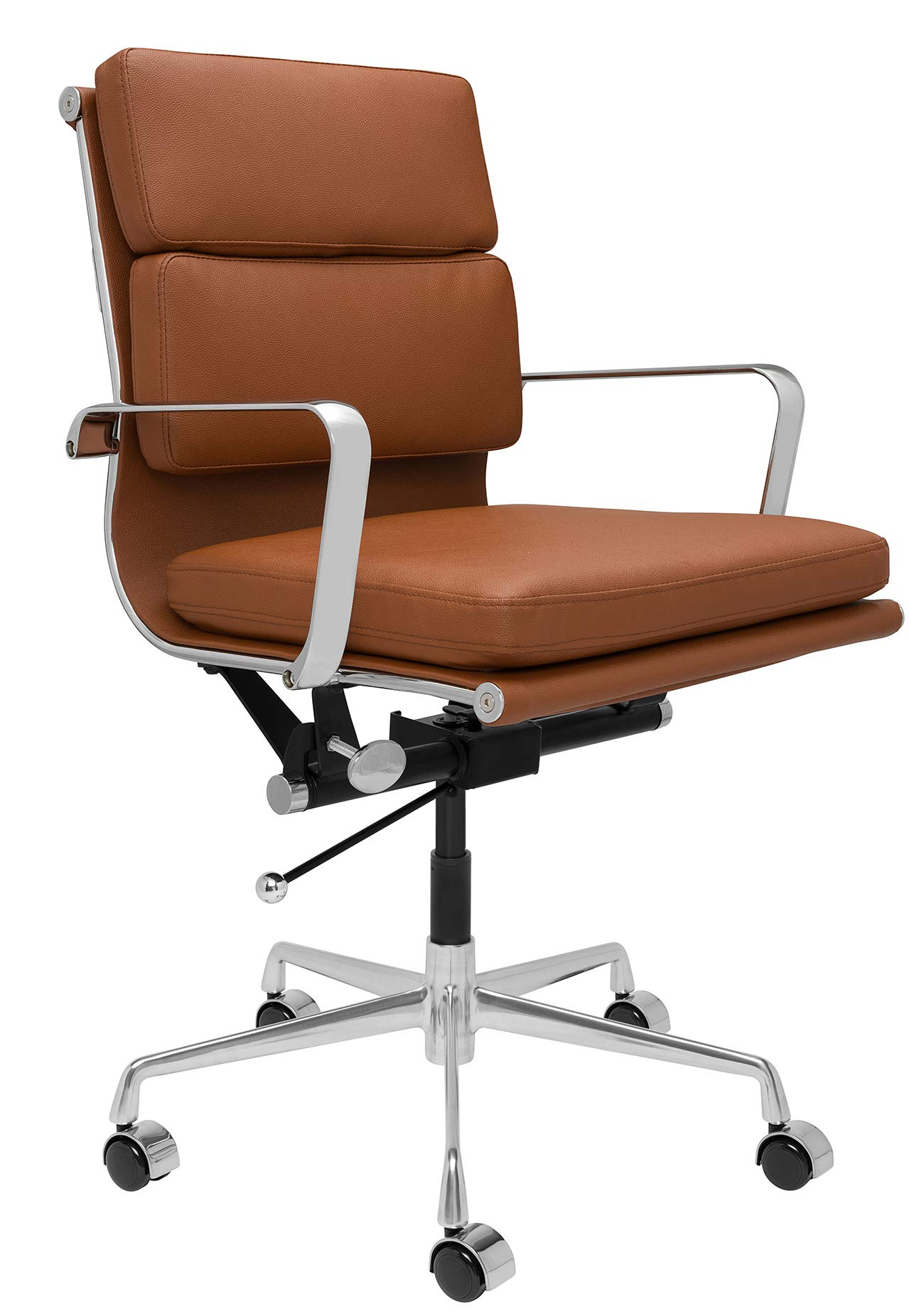 SOHO Soft Pad Management Chair (Brown) by Laura Davidson Furniture