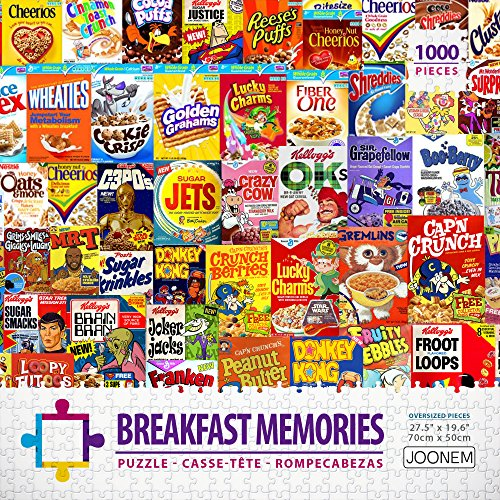 Breakfast Memories: 1000 Piece Jigsaw Puzzle Vintage Photo Collage Art With Your Favorite Childhood Cereal By Joonem Puzzles