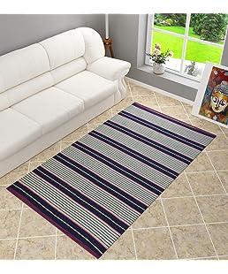 Shankara Cotton Dhurrie Dari Carpet Rug for Hall Living Room Floor Mat Satranji, 1Pc (4 X 6 feet)