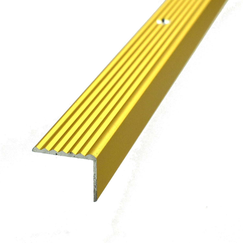 Anodized Stair nosing profile ALUMINIUM Gold | 90cm 19x15mm | Aluminium Profiles for stairs … Borck