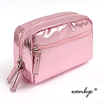 f1510a55036d wonbye Makeup Bag For Women Cosmetic Pouch Storage Toiletry Travel  Accessories Organizer, Pink