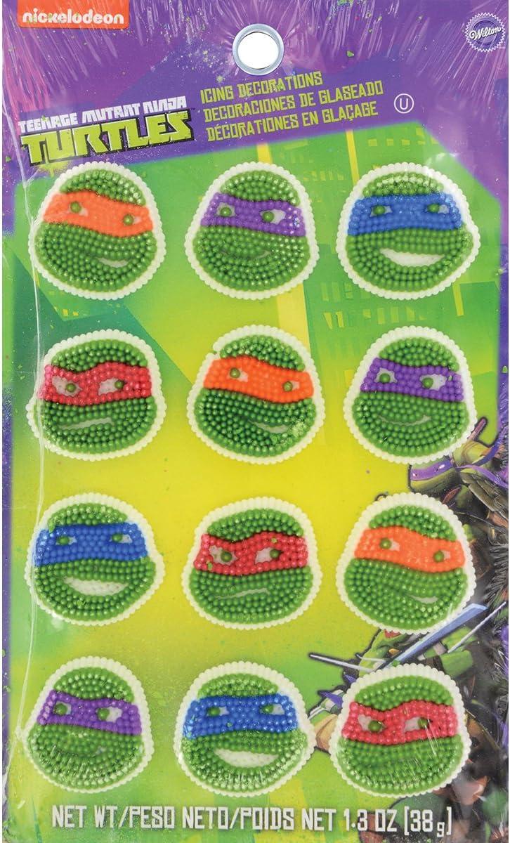 Wilton 710-7745 12 Count Teenage Mutant Ninja Turtles Icing Decorations