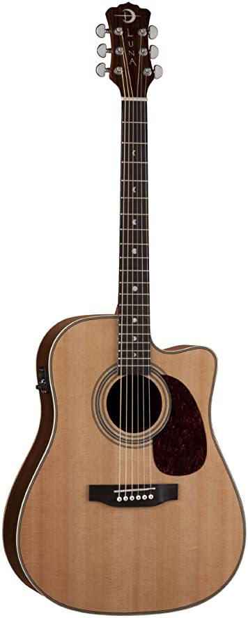 Luna Guitars AM D100 - Guitarra electroacústica, color marrón: Amazon.es: Instrumentos musicales