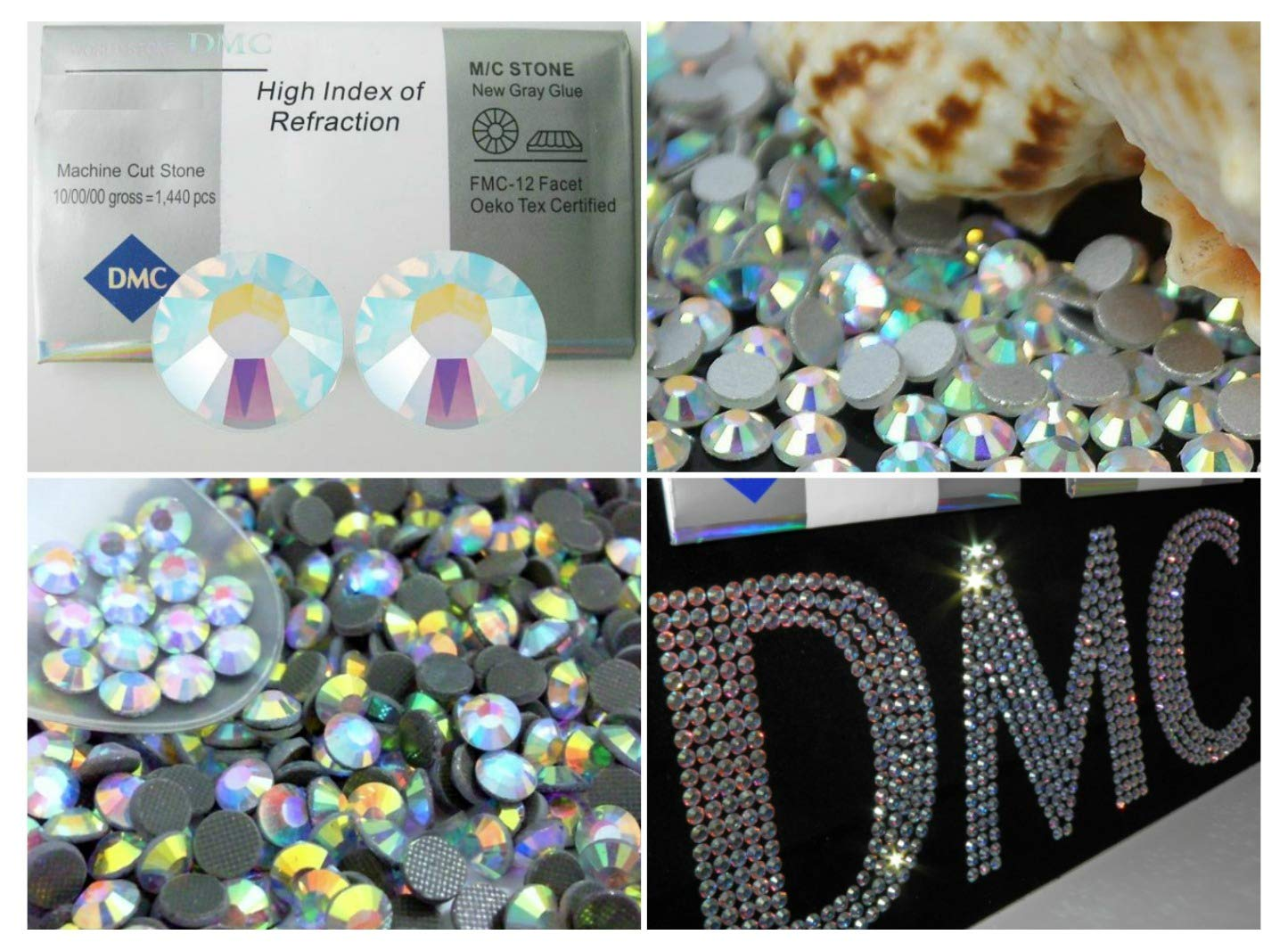 BrillaBenny Strass TERMOADESIVI 1400 Pezzi SS20 / 5MM DmC MC Extra Quality HOTFIX Aurora BOREALE Rhinestone AB Crystal Glass Skating Pattinaggio Danza ABDMC5MM