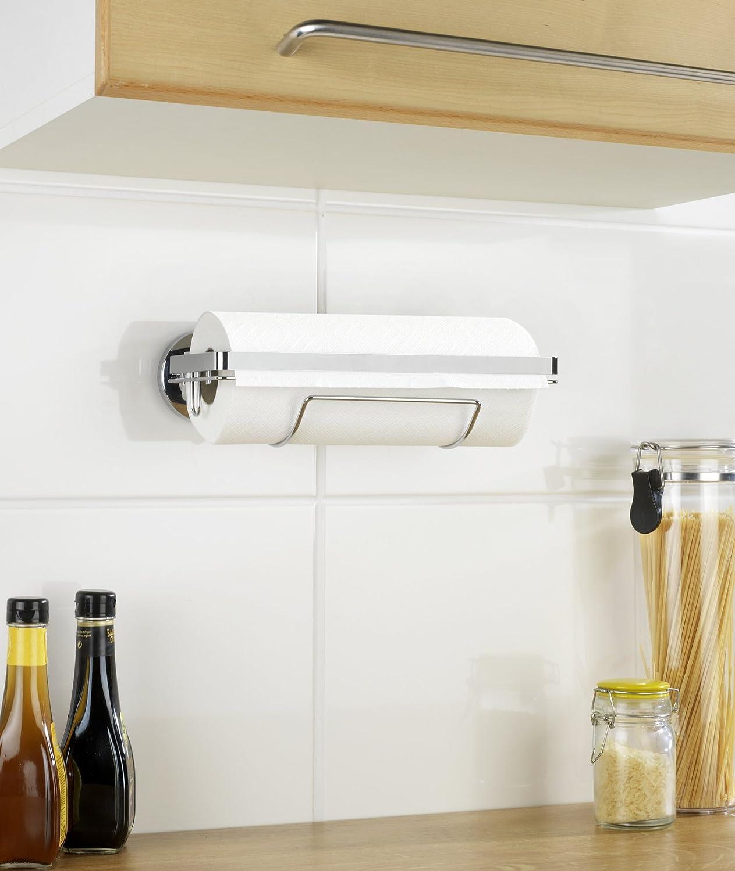 Wenko 5871100 Magic Loc Küchenrollenhalter Befestigen ohne Bohren ...