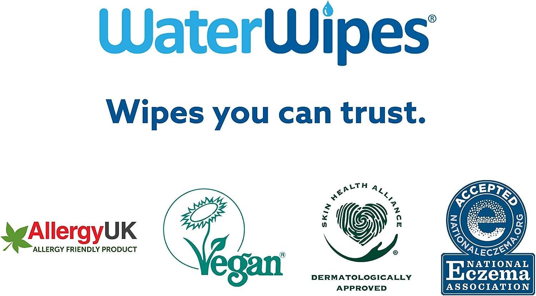 99,9/% gereinigtes Wasser 1080 Feuchtt/ücher WaterWipes Baby Feuchtt/ücher Empfindliche Haut 18x 60 Feuchtt/ücher