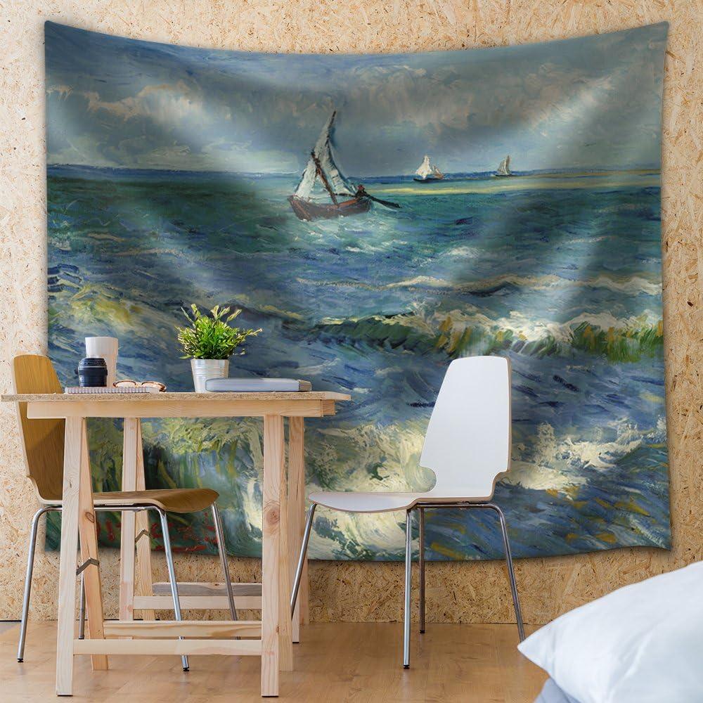 Professional Creation, Pretty Handicraft, Seascape at Saintes Maries by Vincent Van Gogh