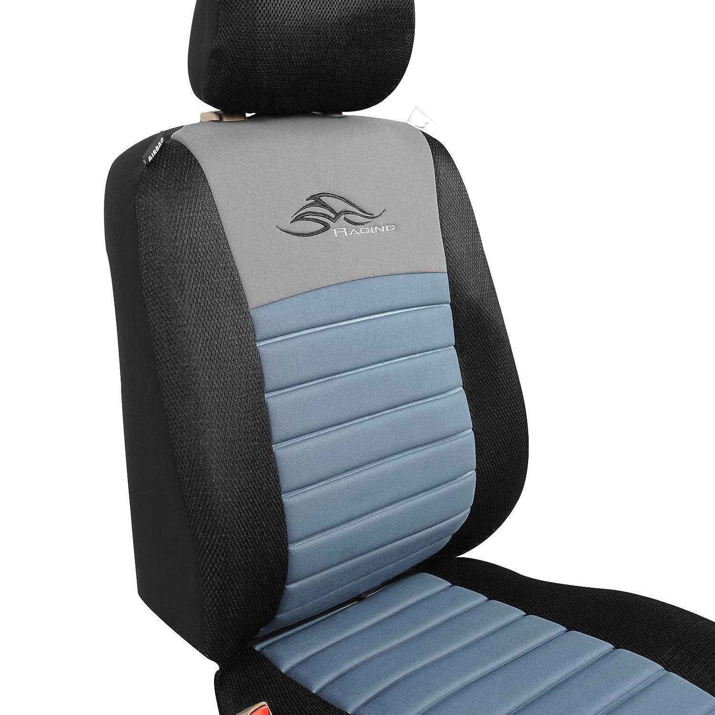 Pet Negro//Azul 0110QCZT EUGAD Juego de 5 Funda Asiento para Coche Universal Delantero y Traseros Cubre de Asiento Autom/óvil sin Airbag Espuma de 12mm