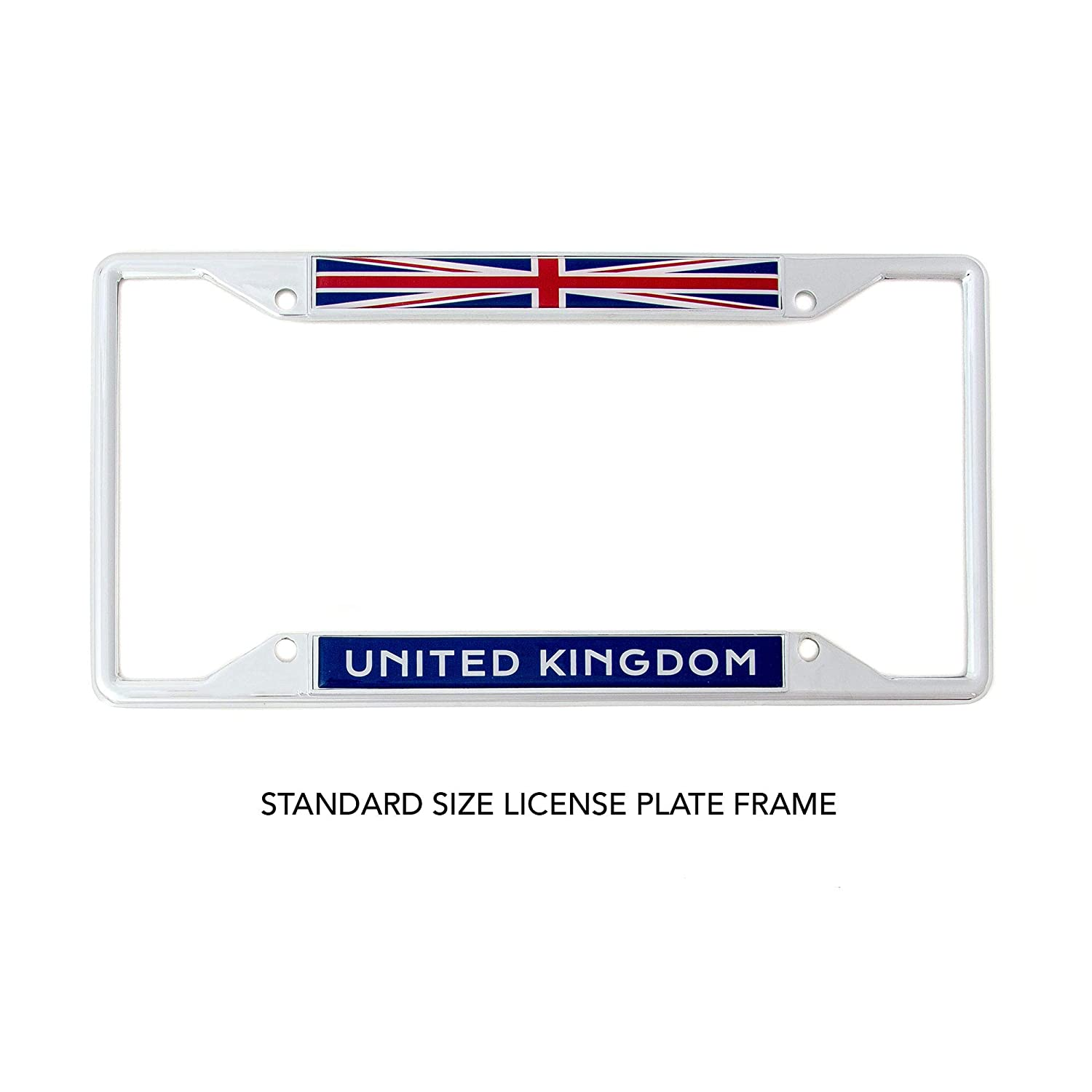 Desert Cactus Country of United Kingdom Flag License Plate Frame for Front Back of Car Vehicle Truck Great Britain