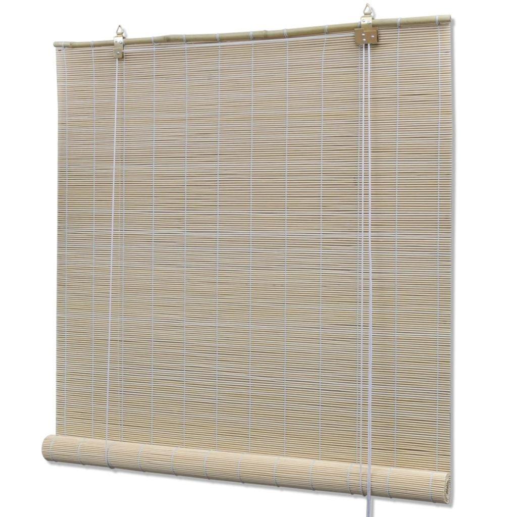 vidaXL Store enrouleur bambou naturel 100 x 160 cm