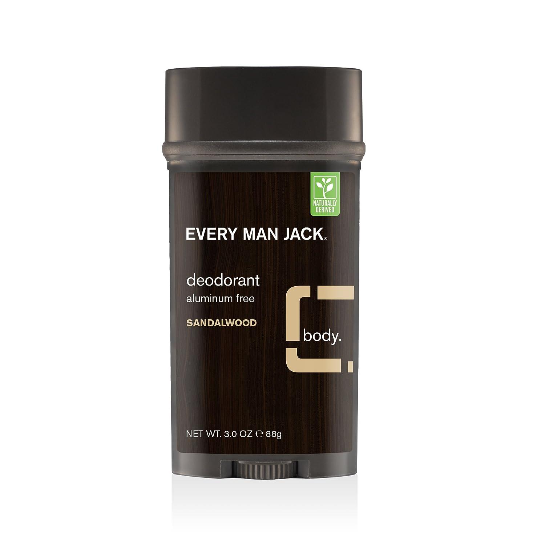 Every Man Jack Deodorant, Sandalwood, 3 Oz. 91300