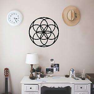 Vinyl Wall Art Decal - Seed of Life Circle Pattern - 23