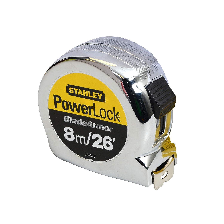Stanley Powerlock 8 metre 26ft Tape Measure x 25mm Wide Metric /& Imperial