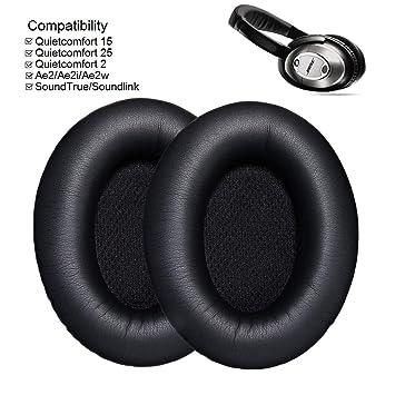 QuietComfort 15/QC15 1/par Auriculares Almohadillas de Recambio Almohadillas Cojines para Bose QuietComfort 2/QC2 AE2 SoundTrue AE2/W QuietComfort 35/qc35 QuietComfort 25/QC25 AE2i
