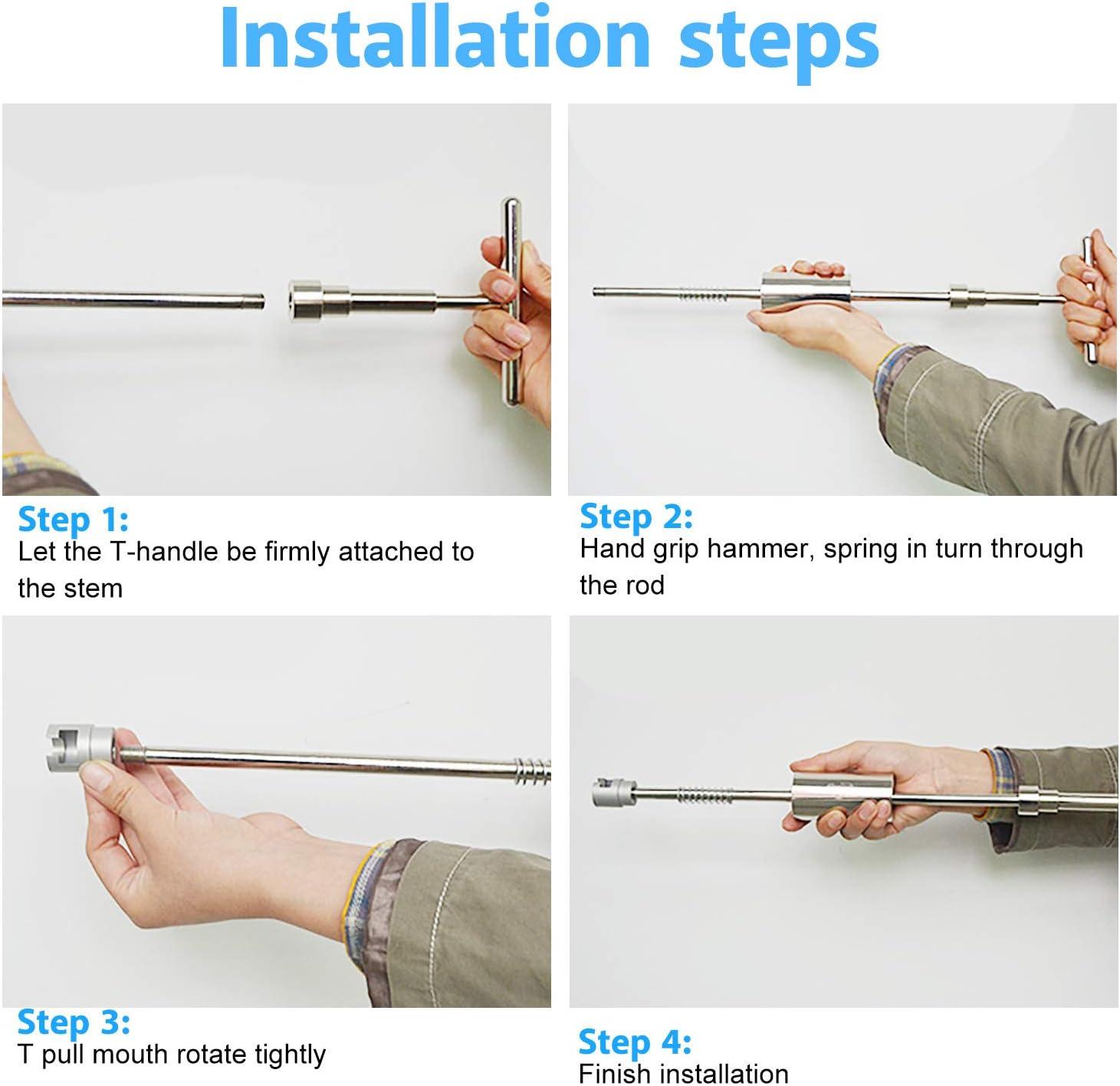 Qiilu Paintless Dent Reparatur Hagelentfernung T Bar Slide Hammer 18 Stück Kleber Puller Tabs Baumarkt