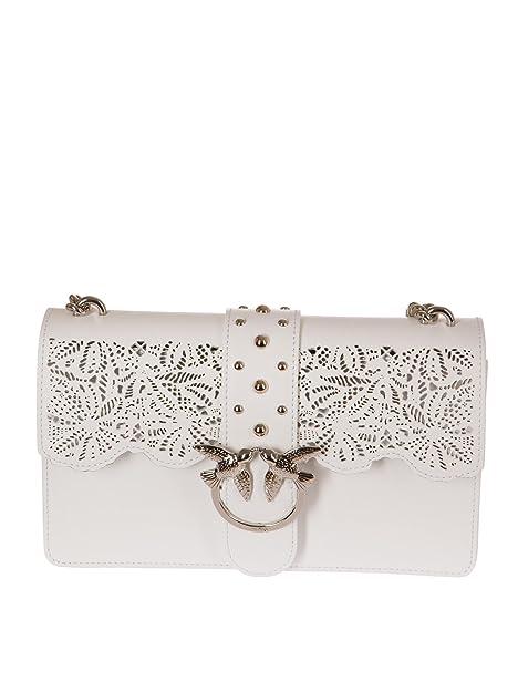 7cf75f98566 PINKO Women's Accessories Love Bag White Macramé Leather Spring Summer  2018: Amazon.ca: Shoes & Handbags