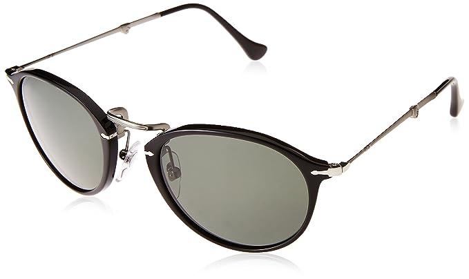 a80cb7838fb5f New Original Sunglasses Persol PO 3075S 95 58 Folding Black Round  Polarized  Amazon.co.uk  Clothing