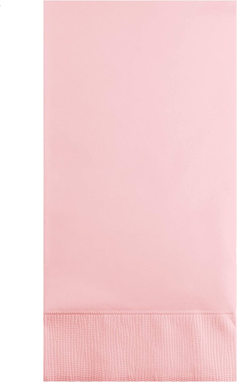 Creative Converting 192 Count Touch of Color 3-Ply Guest Paper Napkins, Classic Pink