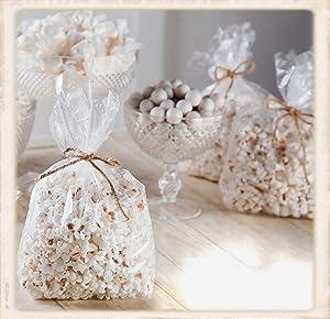 100 Clear Popcorn Favor Bags 4W