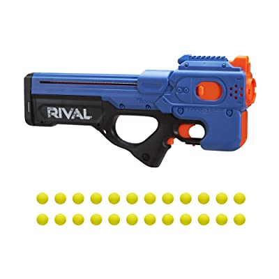NERF Rival Charger MXX-1200 Motorized Blaster -- 12-Round Capacity, 95 FPS Velocity -- Includes 24 Official Rival Rounds -- Team Blue: Toys & Games