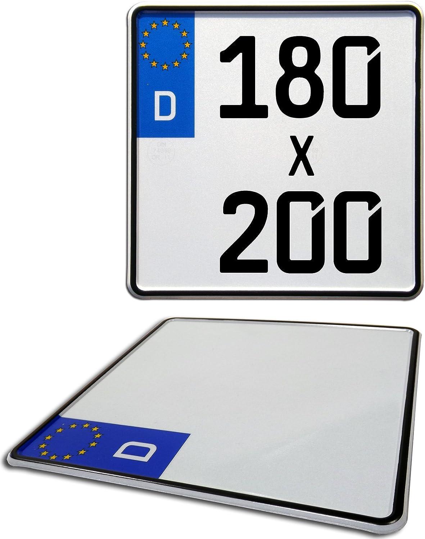Motorrad Kennzeichen Euro Nummernschild Deutschland 180mm X 200mm Auto