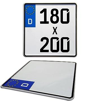 Motorrad Kennzeichen Euro Nummernschild 180mm X 200mm Amazon