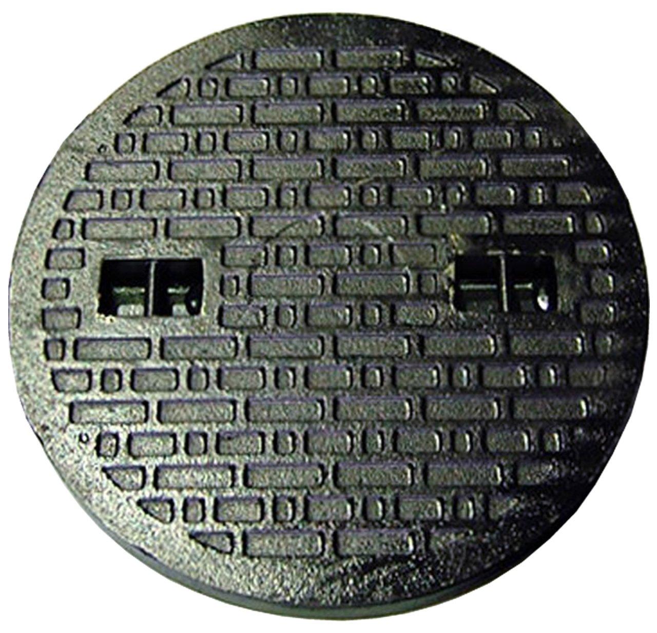 鋳鉄製 マンホール 浄化槽フタ 6t荷重マンホール 蓋のみ 穴径400mm (フタ径450mm) MK-6-400 B01I1M83WK 27263 穴径400mm  穴径400mm