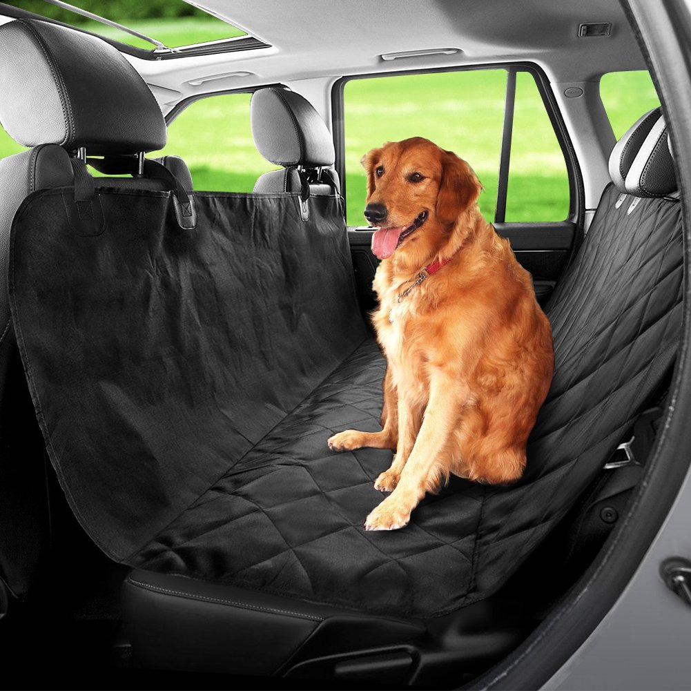 Dog pet predective auto cover, car boot predector for cats and dogs, non-slip, scratch resistant, waterproof, black