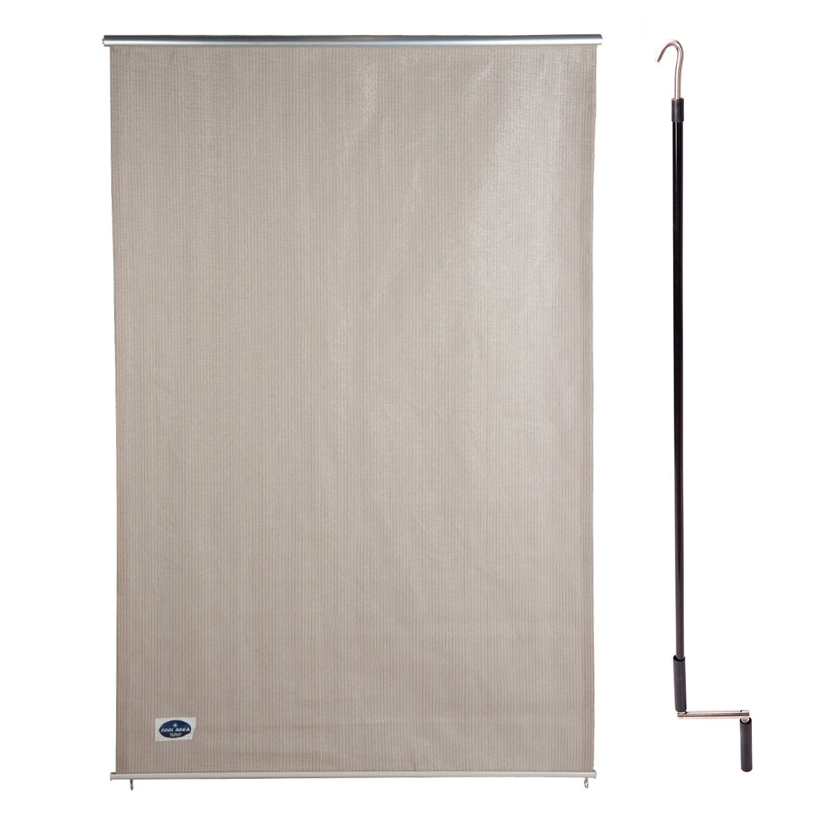 Cool Area 6ft x 4ft Outdoor Cordless Roller Sun Shade for Proch Patio in color Sesame