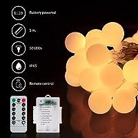 Guirnalda de bolas de luz led decorativas